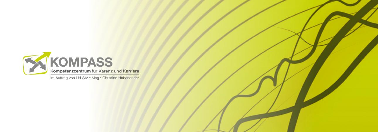 Header mit KOMPASS Logo
